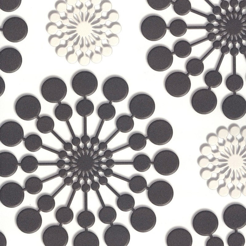 Carta Da Parati Geometrica.Carta Da Parati Con Forme Geometriche Color Crema E Marrone
