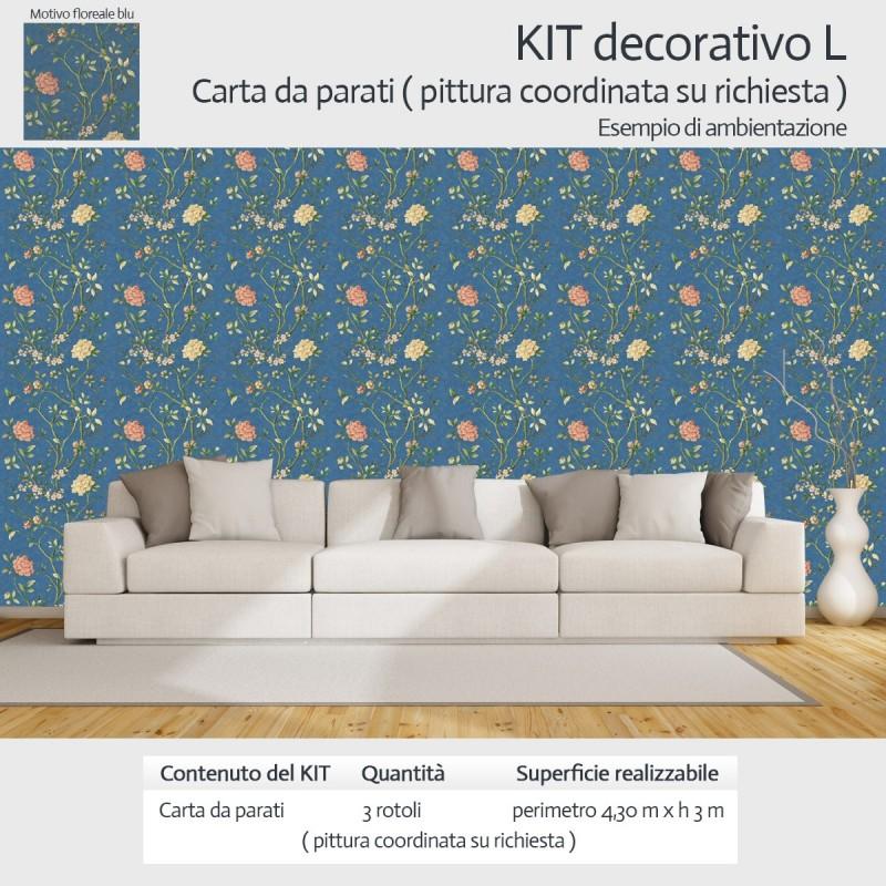 kit decorazione pareti carta da parati e pittura coordinata su richiesta