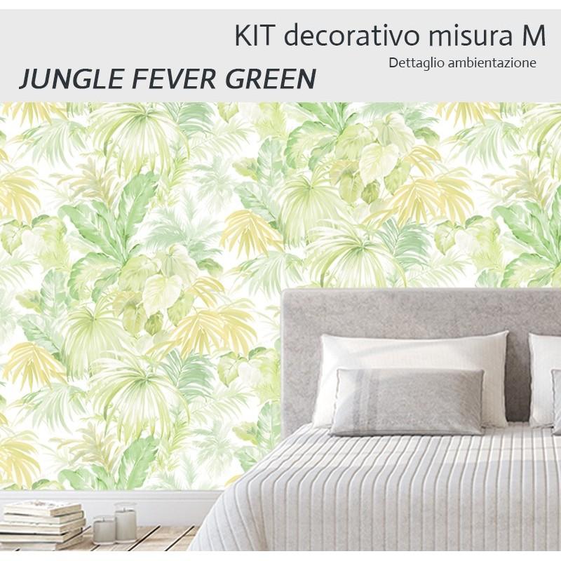 Carta Da Parati Su Misura.Jungle Fever Verde Kit Misura M Carta Da Parati E Pittura Coordinata