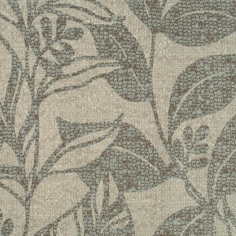 Carta da parati con motivo floreale stilizzato beige e grigio