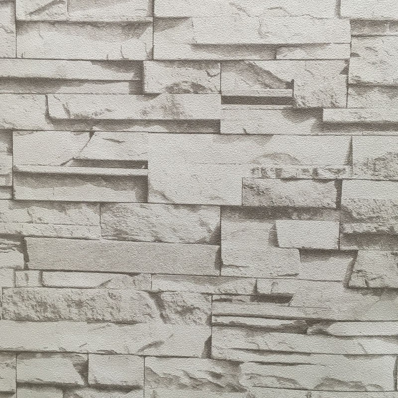 Carta da parati 3d pietra ruvida effetto realistico for Carta da parati adesiva effetto mattone
