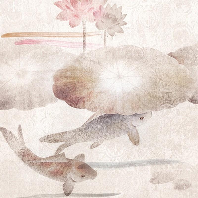 Pannello Murale In Carta Da Parati Carpa Giapponese Koi