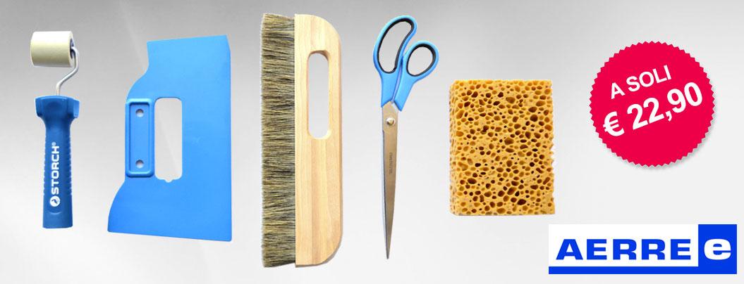 Attrezzi posa della carta da parati spazzola forbice for Posa carta da parati