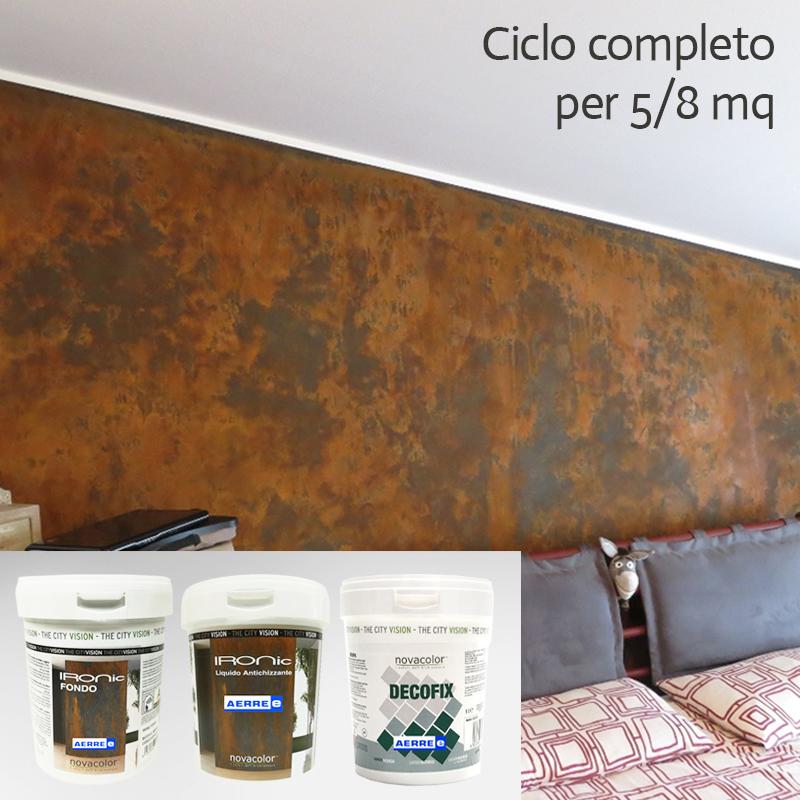 Pittura Ruggine Corten 5 8 Mq Ciclo Completo Fondo Antichizzante Protettivo Ebay