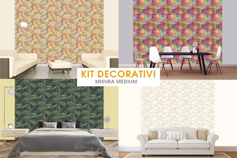 Kit decorativi misura Medium carta da parati e pittura coordinata by Paratiepitture.it