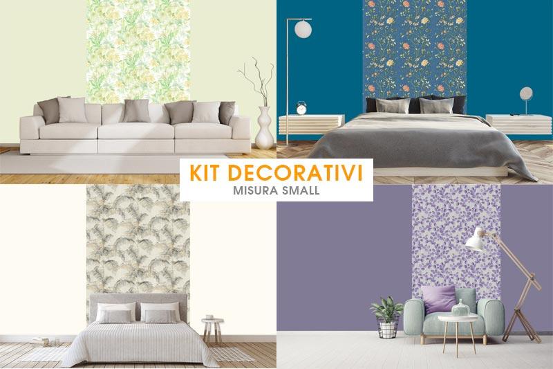 Kit decorativi misura Small - carta da parati  e pittura coordinata by Paratiepitture.it